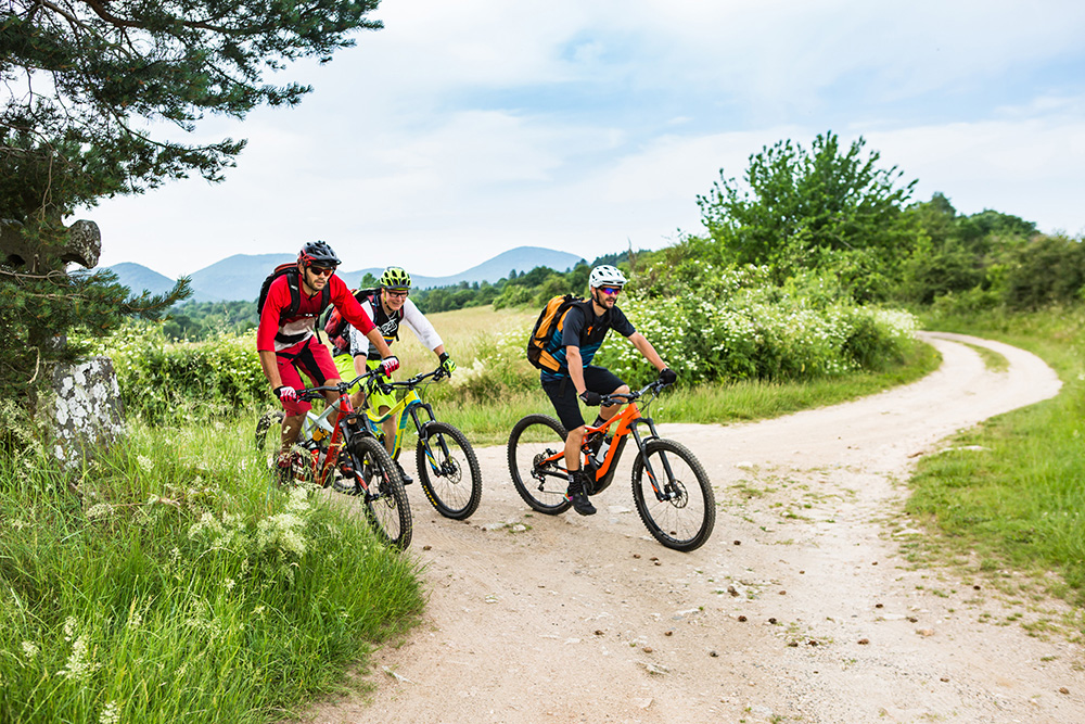 Mountainbike auf die GTMC in Volvic
