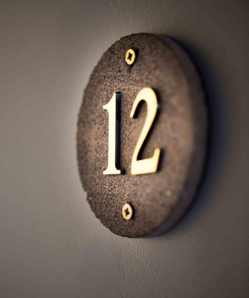 Door number at hotel