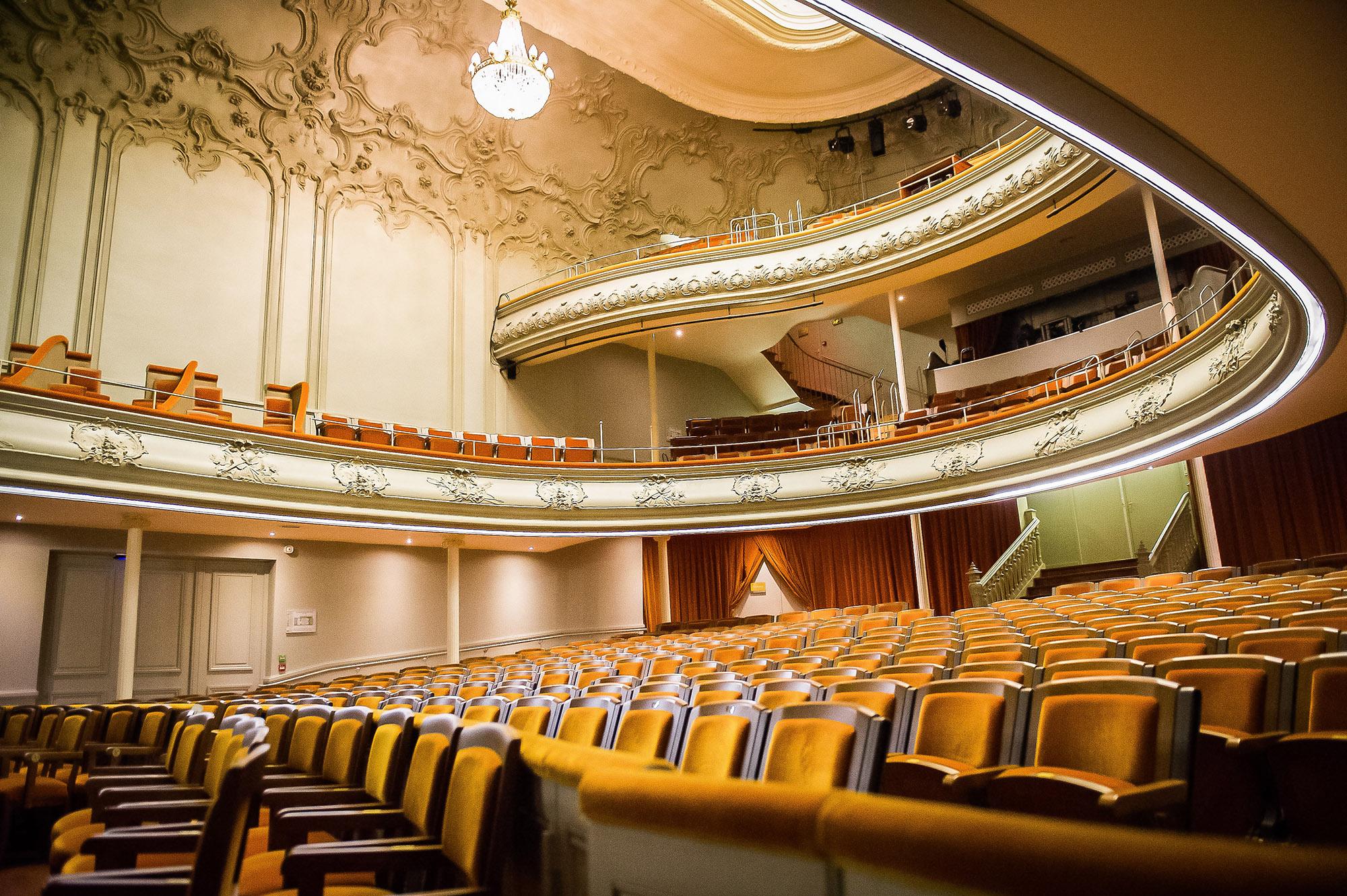 Concert halls, theaters, casino