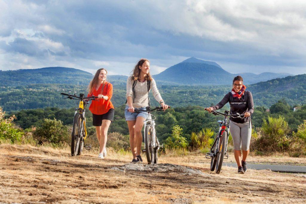 Mountain biking in Volvic