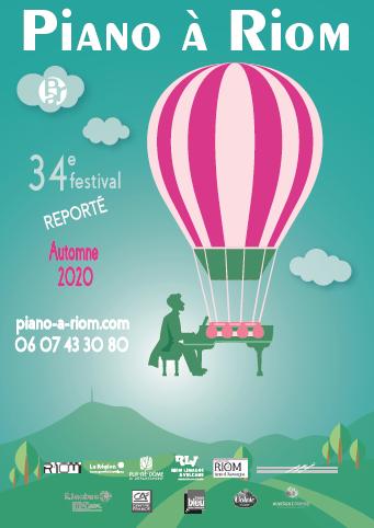 affiche Festival Piano à Riom 2020 automne