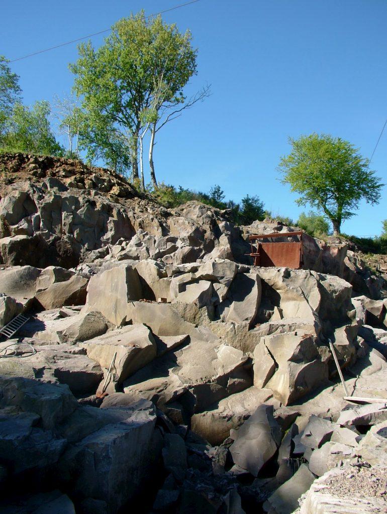 Carrière de pierre à Volvic