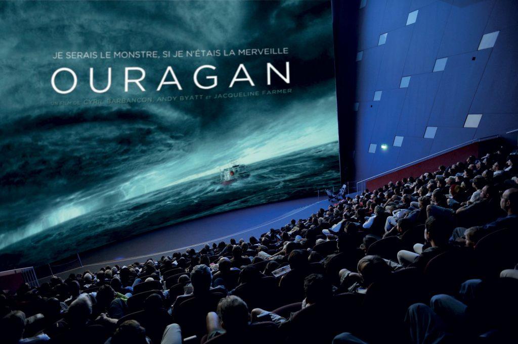 Film Ouragan au Parc Vulcania à Saint-Ours-les-Roches