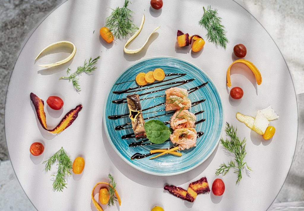 Restaurant nutri-gastronomique de l'établissement thermal Aïga resort à Châtel-Guyon