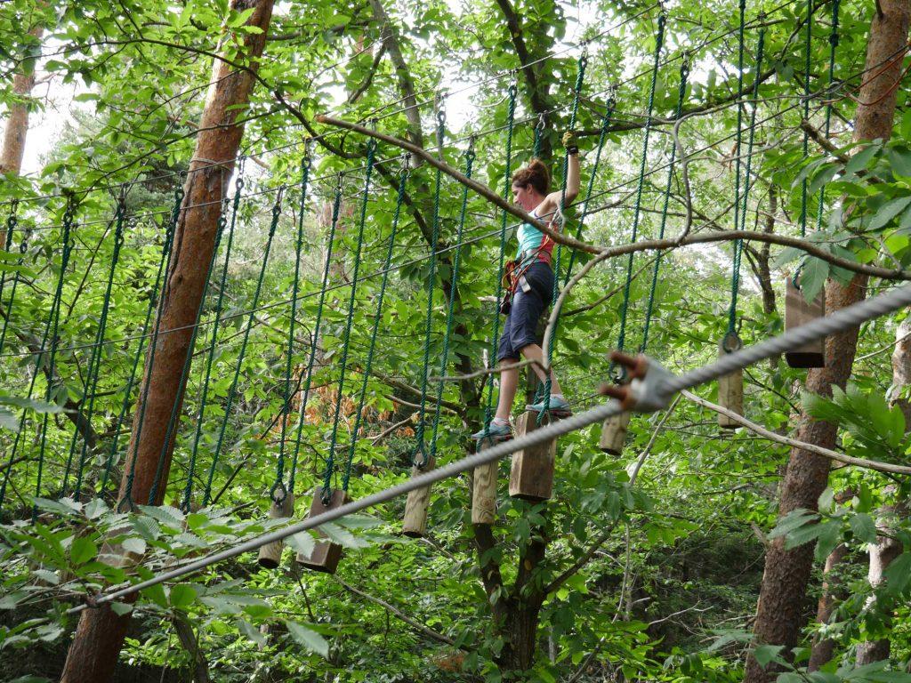 Accrobranche au Parc Écureuil à Châtel-Guyon