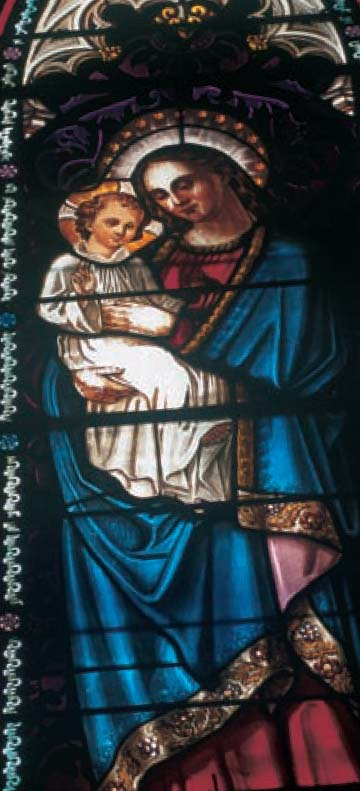 Vitrail 1848 Eglise d'Enval
