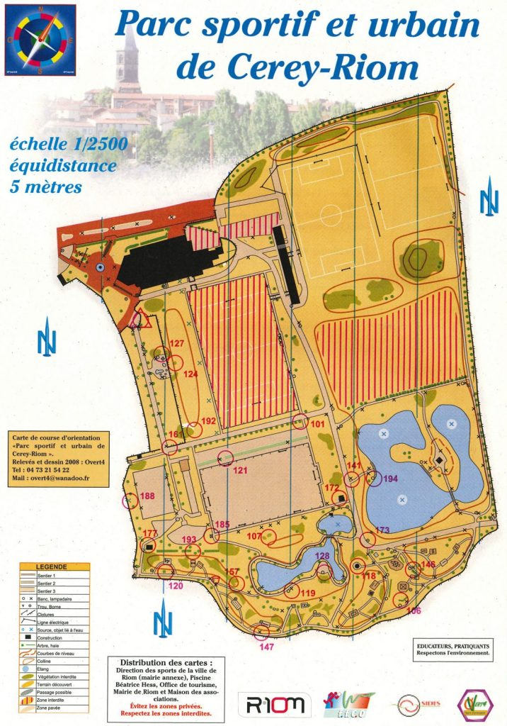 Course au score d'orientation – Parc du Cerey à Riom